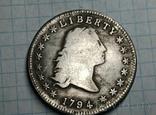 Доллар 1794 Распущеные волосы тип 2 копия самой дорогой монеты в мире, фото №3