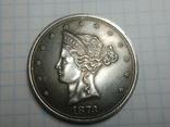 Доллар 1873 копия, фото №2