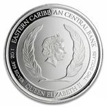 2 Доллара 2020 Доминика (Серебро 0.999, 31.1г) 1oz, Восточные Карибы Унция, фото №3