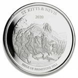 2 Доллара 2020 Сент Киттс и Невис (Серебро 0.999, 31.1г) 1oz, Восточные Карибы Унция, фото №2