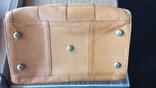 Сумка - саквояж кожаный винтажный, фото №3