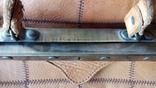 Сумка - саквояж кожаный винтажный, фото №6