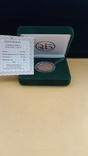Медаль 2002 год Au 900* Проминвестбанк, фото №2