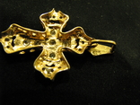 Кулон.  Крест двухцветный. Золото., фото №5