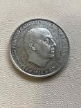 Испания 1966 год 100 песет серебро, фото №2