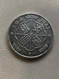 Испания 1966 год 100 песет серебро, фото №3