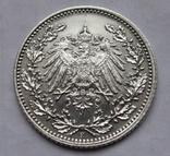 1/2 марки 1919 г. (Е) Германия, серебро, фото №7