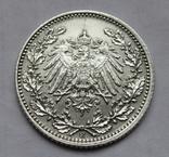 1/2 марки 1919 г. (Е) Германия, серебро, фото №8