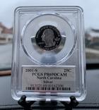 Серебряный четвертак Quarter dollar silver 2001 S PCGS, фото №2