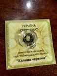 "2 грн золото 9999 пробы ""Калина червона"", фото №4"