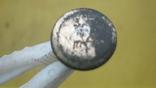 Пуговка в позолоті з вибитою квіткою, фото №8