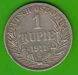 1 рупия 1911 Немецкая африка, фото №3