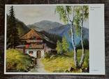 "Старая открытка. J. Hecker ""Schwarzwald-haus"". Германия., фото №2"