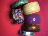 Браслеты, металл, сплав, пластик, роспись по дереву, набор 6 штук., фото №3