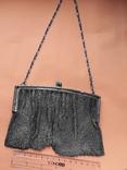 Коктейльная сумочка, кольчужное плетение, серебро, 221 грамм, Франция, фото №7