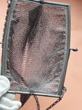 Коктейльная сумочка, кольчужное плетение, серебро, 221 грамм, Франция, фото №8