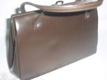 Сумочка винтажная кожаная Англия, фото №3