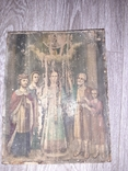 Икона Покрова Пресвятой Богородицы на дереве 22 * 28.5см, фото №5