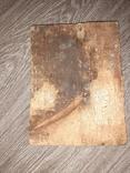 Икона Спаситель Иисус Христоссо святыми  на дереве 17*23см 19 век, фото №5