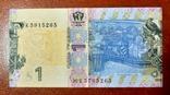 1 гривня 2018 неправильная вырезка банкноты підпис Смолія фото 2