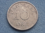 Дания 10 эре 1954 года, фото №2