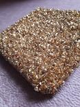 Театральная золотая сумочка -кошель, обшитая бисером, пайетками и бусинами., фото №5
