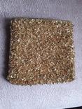 Театральная золотая сумочка -кошель, обшитая бисером, пайетками и бусинами., фото №2