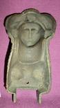 Барельеф *Восточная красавица*. Старинная накладка на мебель. Бронза ХІХ век., фото №11