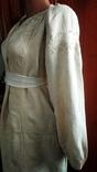 Старинная  вышиванка белым по белому с вырезанием., фото №4