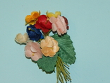 Брошка искусственные цветы ГДР, фото №3