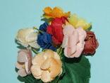 Брошка искусственные цветы ГДР, фото №5