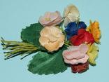 Брошка искусственные цветы ГДР, фото №6