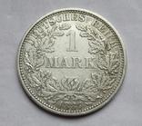 1 марка 1887 г. (А) Германия, серебро, фото №3