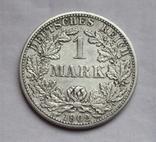 1 марка 1902 г. (F) Германия, серебро, фото №3