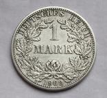 1 марка 1902 г. (F) Германия, серебро, фото №4