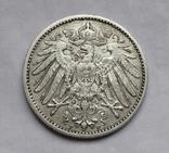 1 марка 1902 г. (F) Германия, серебро, фото №9