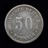 Германия 50 пфенигов 1877 В серебро, фото №2