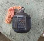 Серебряный колокольчик со свастикой, Япония, 19 век., фото №2