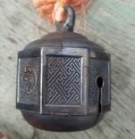 Серебряный колокольчик со свастикой, Япония, 19 век., фото №4