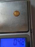 Золотая сувенирная монета Мексики 1865год 1 песо (перевертыш), фото №4