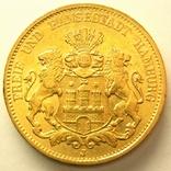 Гамбург 20 марок 1878 г., фото №2