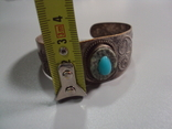 Жесткий браслет мельхиор толщина 3 см диаметр 5,9 см, фото №3
