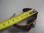 Жесткий браслет мельхиор толщина 3 см диаметр 5,9 см, фото №4