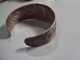 Жесткий браслет мельхиор толщина 3 см диаметр 5,9 см, фото №7