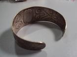 Жесткий браслет мельхиор толщина 3 см диаметр 5,9 см, фото №8