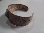 Жесткий браслет мельхиор толщина 3 см диаметр 5,9 см, фото №9