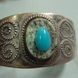 Жесткий браслет мельхиор толщина 3 см диаметр 5,9 см, фото №11
