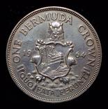 Бермуды крона 1964 серебро, фото №2