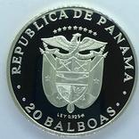 Панама, 20 Бальбоа 1974 Симон Боливар (Серебро 0.925, 129.6г), полный комплект, фото №4