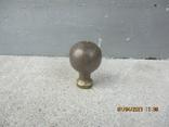 Старая дверная ручка бронза (78гр.), фото №2